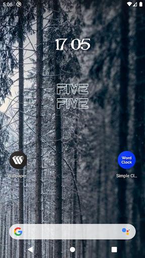 Simple Clock Widget - Word Clock  screenshots 3