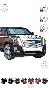 Cars Color by Number – Cars Coloring Book Screenshot