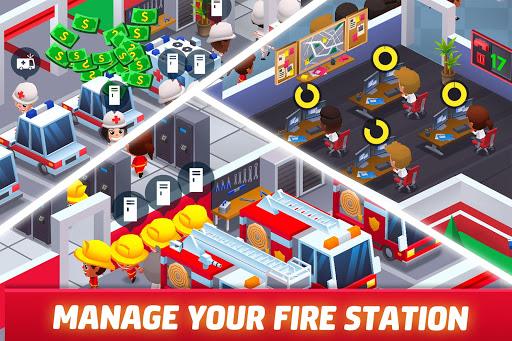 Idle Firefighter Tycoon - Fire Emergency Manager apktram screenshots 1