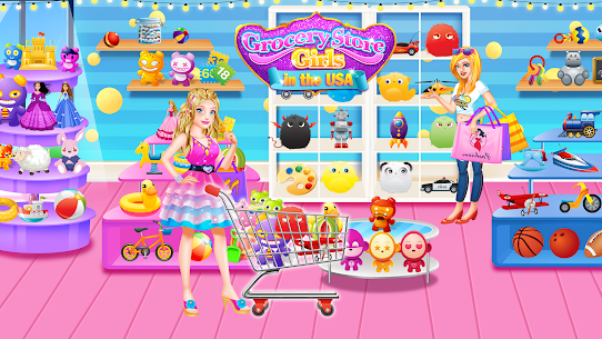 Grocery Store Girl in the USA – Shopping Games 1.3 Android Mod + APK + Data 2
