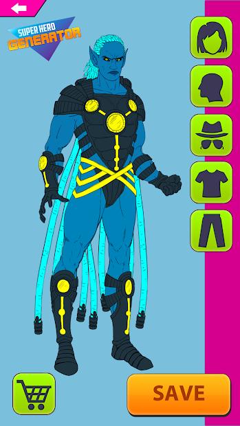 Captura 2 de Super Hero Generator para android