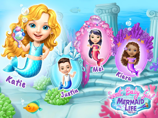 Sweet Baby Girl Mermaid Life - Magical Ocean World apkmr screenshots 13