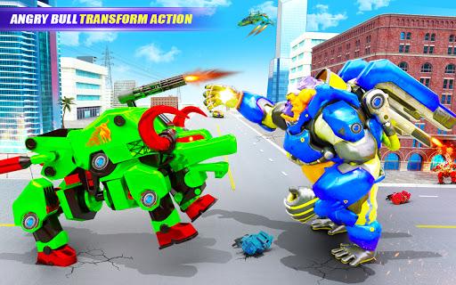 Grand Bull Robot Car Transforming Robot Games 10 Screenshots 7
