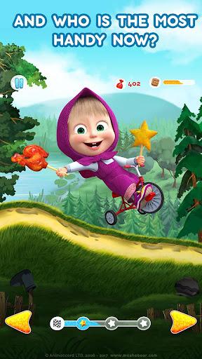 Masha and the Bear: Climb Racing and Car Games apkslow screenshots 4