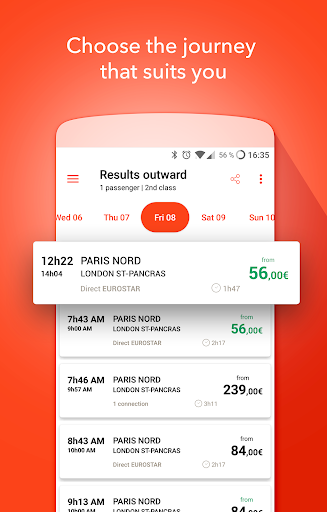 Oui.sncf : Cheap Train & Bus tickets for France 81.04 Screenshots 1
