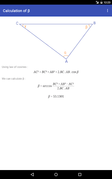 Captura de Pantalla 8 de Triangle Math - Trigonometry para android