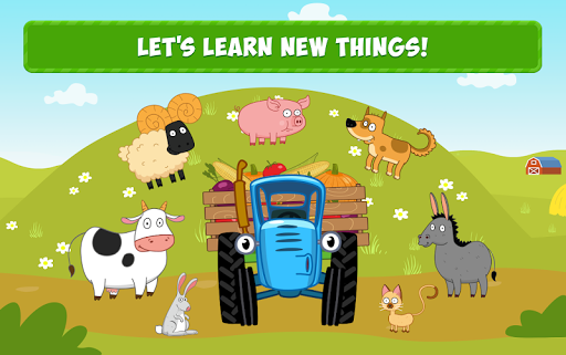 Blue Tractor Games for Toddlers 2 Years Old! Pre K apkmr screenshots 15