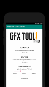 60 FPS Booster – GFX Tool PRO FOR FREE FIRE (FREE) 5