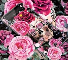 Pink Rose Skeleton Romantic Theme