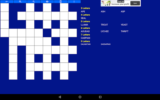 Fill it ins word puzzles - free crosswords screenshots 14