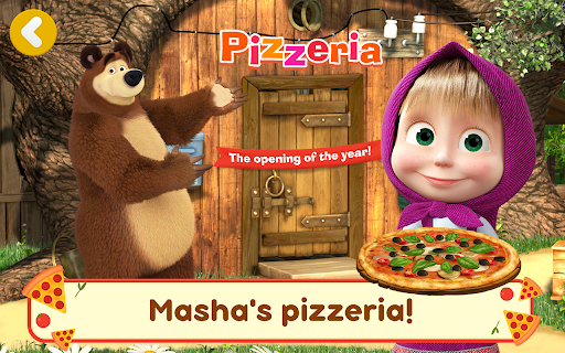 Masha and the Bear Pizzeria Game! Pizza Maker Game  screenshots 18