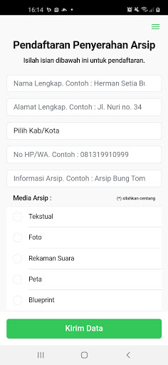 ARCA - Daftar Pencarian Arsip