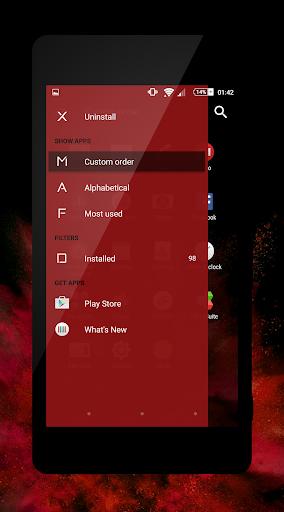 xblack - red premium theme for xperia screenshot 2