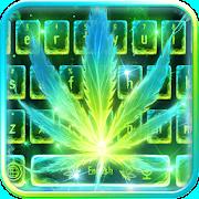 Neon Smoking Weed Keyboard Theme