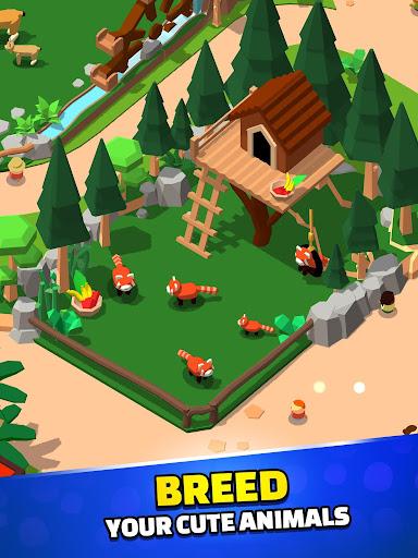 Idle Zoo Tycoon 3D - Animal Park Game APK MOD (Astuce) screenshots 3