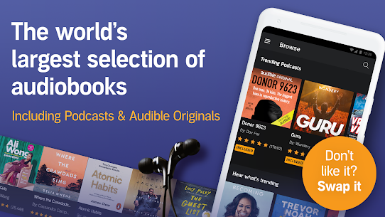 Audible: audiobooks, podcasts & audio stories MOD APK V2.67.3 – (Download For Android) 1