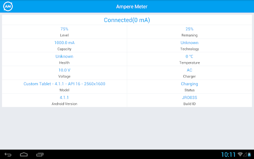 Ampere Meter Screenshot