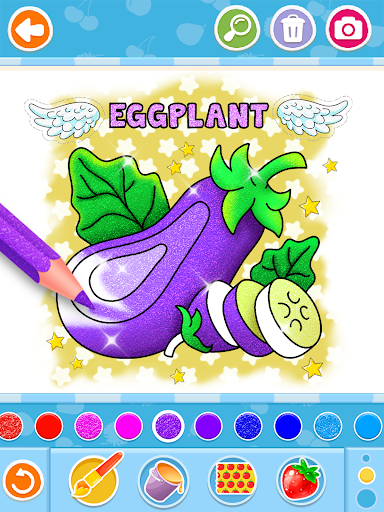 Fruits and Vegetables Coloring Game for Kids  screenshots 13