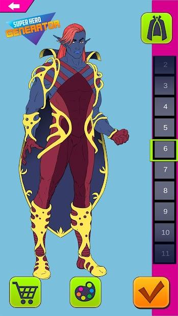 Screenshot 7 de Super Hero Generator para android