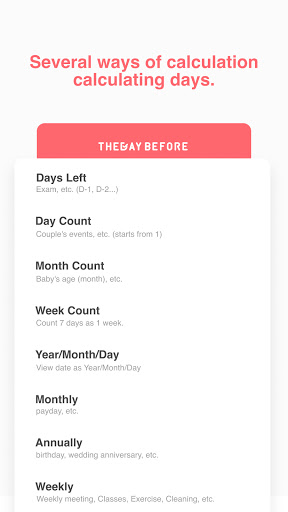 TheDayBefore (days countdown) apktram screenshots 7