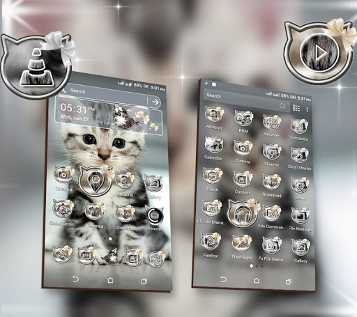 Cute Cat Launcher Theme modavailable screenshots 2