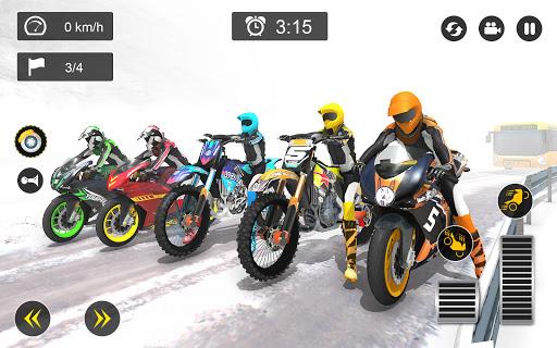Snow Mountain Bike Racing 2021 - Motocross Race android2mod screenshots 9