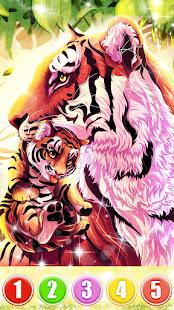 Tiger color by number: Coloring games offline