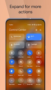 Mi Control Center Pro Mod Apk Notifications and Quick Actions 4