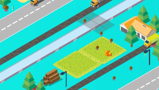 Cross Road: Cute Animals - Chicken Game 3.4 screenshots 3