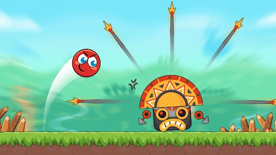 Red Bounce Ball Heroes 4
