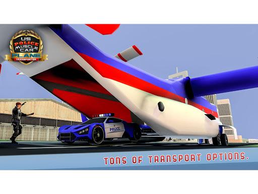 US Police Muscle Car Cargo Plane Flight Simulator 4.7 screenshots 12