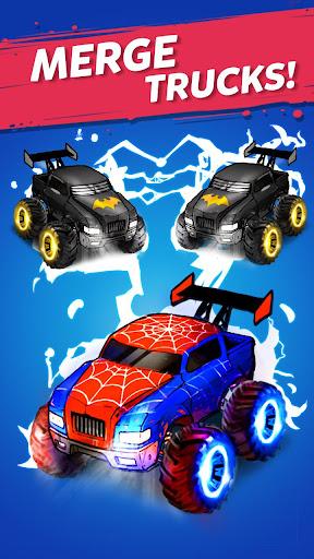 Merge Truck: Monster Truck Evolution Merger game Apkfinish screenshots 7