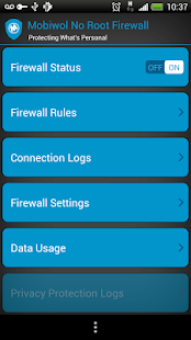 Mobiwol: Firewall ohne Root Screenshot