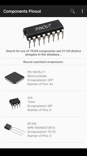 electronic component pinouts free screenshot 1