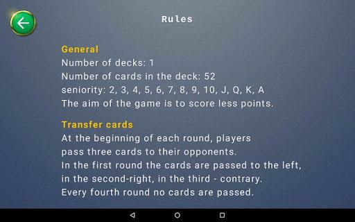 Hearts card game  screenshots 10
