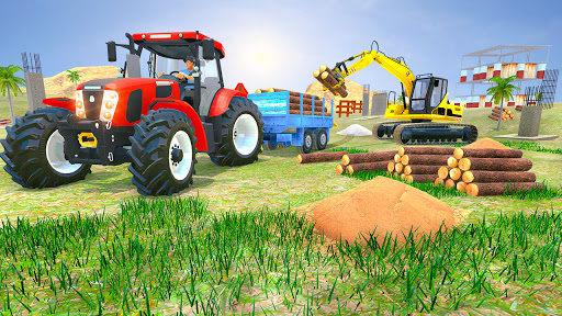 Tractor Trolley Drive Offroad Cargo: Tractor Games screenshots 5
