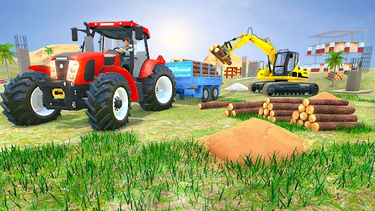 Tractor Trolley Drive Offroad Cargo: Tractor Games 5