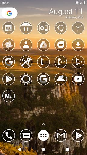 Monoic Icon Pack: White, Monotone, Minimalistic screenshots 2