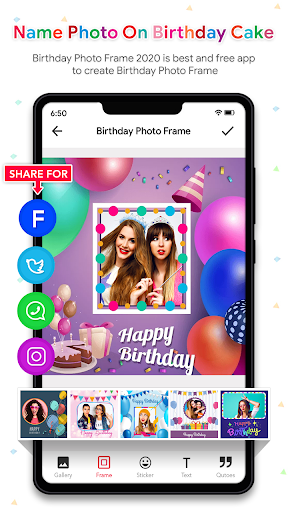 Name Photo On Birthday Cake - Birthday Photo Frame  screenshots 7