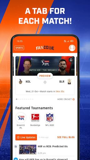Cricket Live Stream, Scores & Predictions: FanCode android2mod screenshots 5