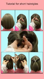 Hairstyles for short hair Girls 4