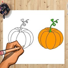 How to Draw Pumpkin And Other Vegetables Easily APK