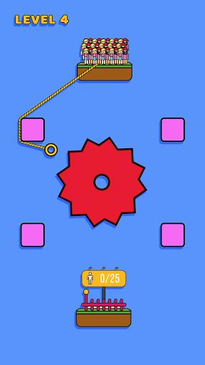 Rope Rescue! - Unique Puzzle android2mod screenshots 1