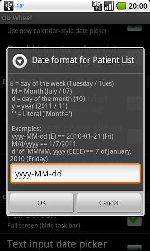 OB Wheel (Pregnancy calculator) 10.5.0 (2020-08-31) - FREE as in BEER Screenshots 6