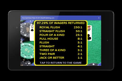 Five Card Draw Poker 1.20 screenshots 24