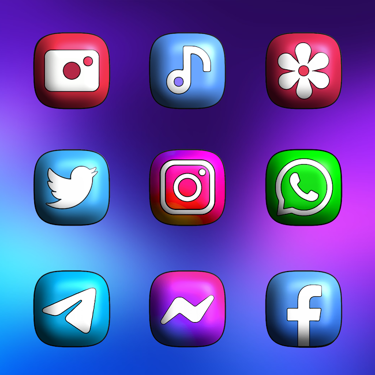 One UI 3D - Icon Pack  poster 2
