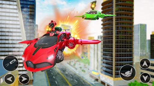 Flying Car Shooting Game: Modern Car Games 2021  Screenshots 1