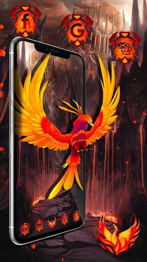 3d fire phoenix theme screenshot 2
