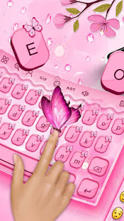 Cute Butterfly - Keyboard Theme