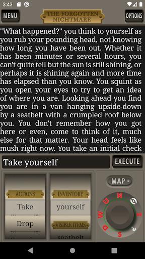 Télécharger The Forgotten Nightmare Text Adventure Game apk mod screenshots 1